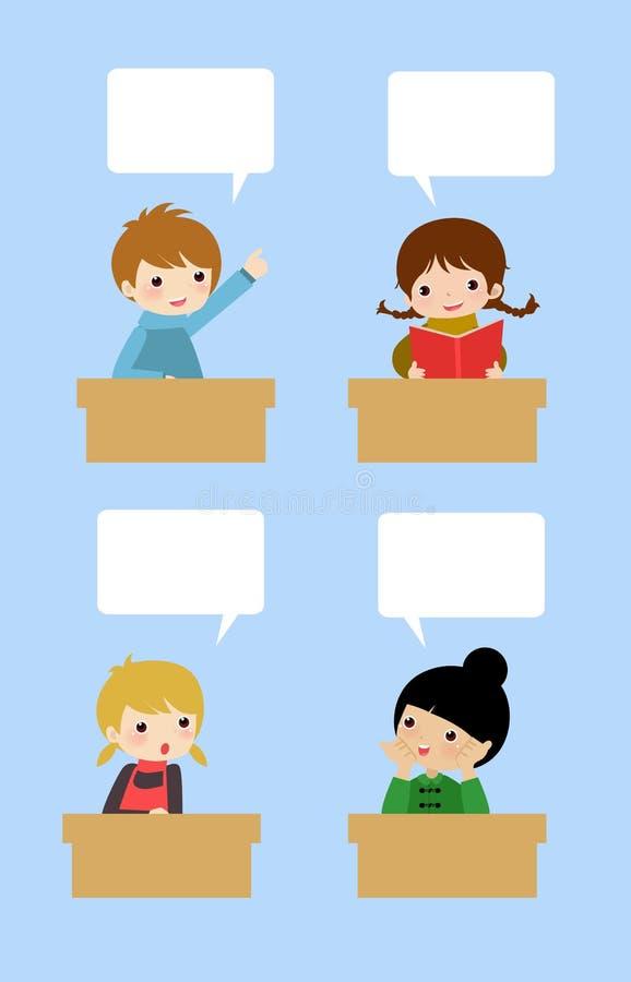Fala do estudante ilustração do vetor