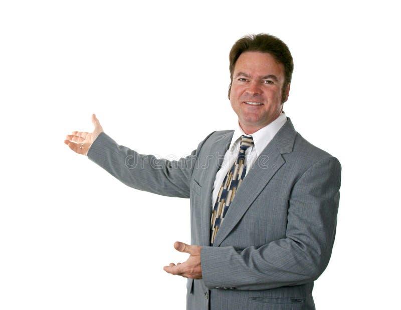 Fala do homem de negócios imagem de stock