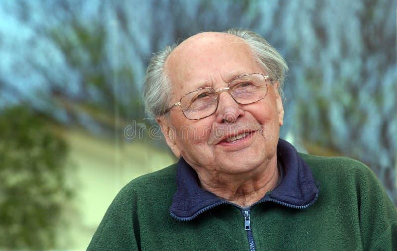 Fala do homem idoso fotos de stock royalty free