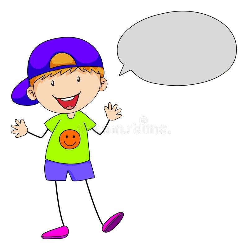 Fala do menino ilustração royalty free