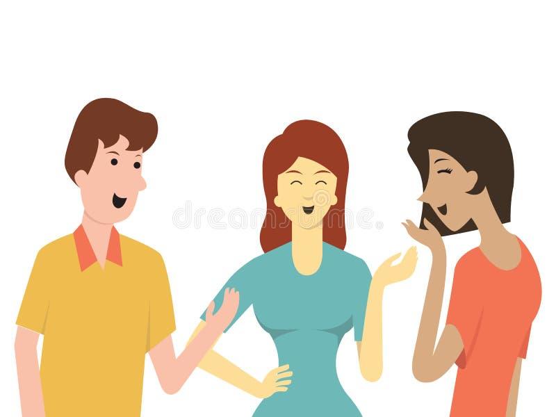 Fala dos amigos ilustração do vetor