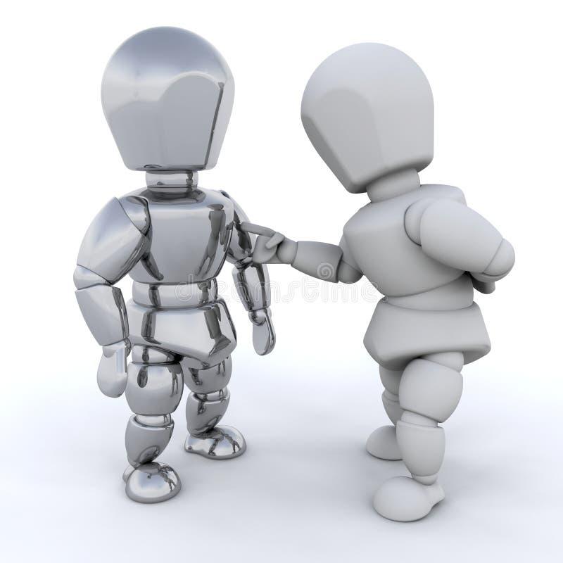 fala dos homens 3D ilustração royalty free