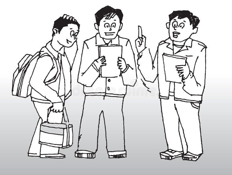 Fala dos homens ilustração royalty free