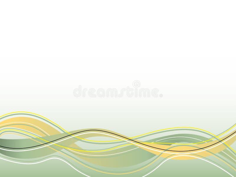 fala duchowe żółty ilustracja wektor