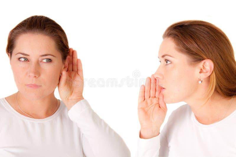 Fala e escuta imagem de stock