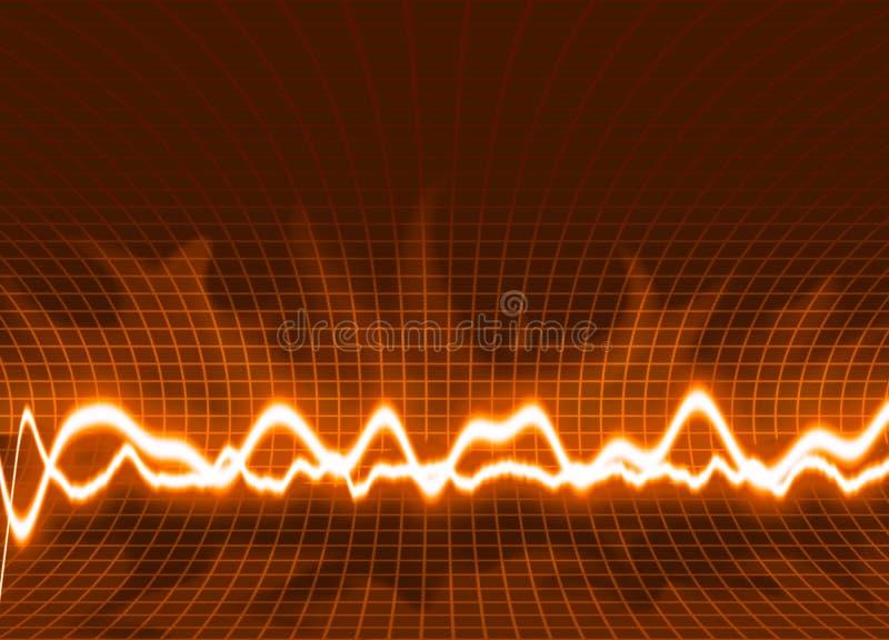 fala energii tło ilustracja wektor