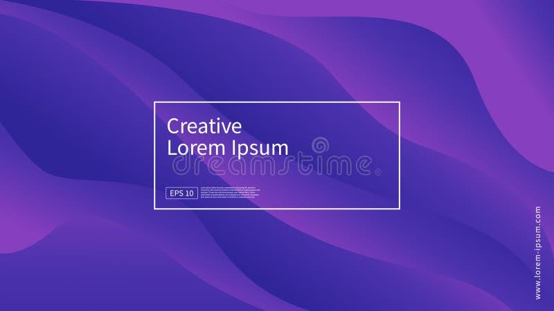 Fala i geometryczny koloru tła projekt Dynamiczny kształta skład z gradientowym kolorem Nowożytny i futurystyczny projekt dla pok ilustracja wektor
