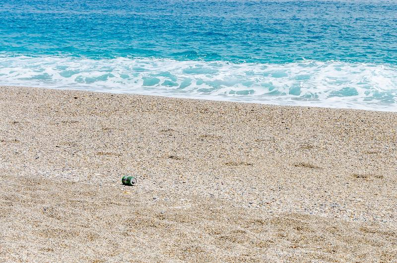 Fala i piasek plaża zdjęcia royalty free