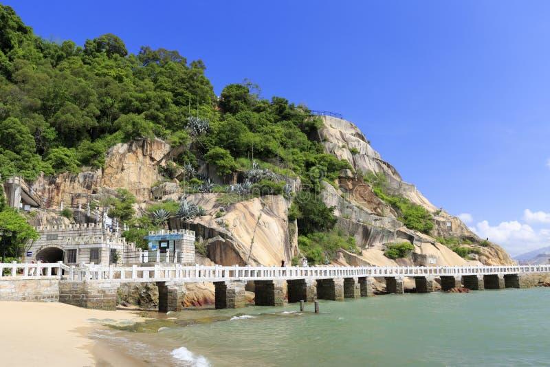Fala krytyki tunel gulangyu wyspa fotografia stock