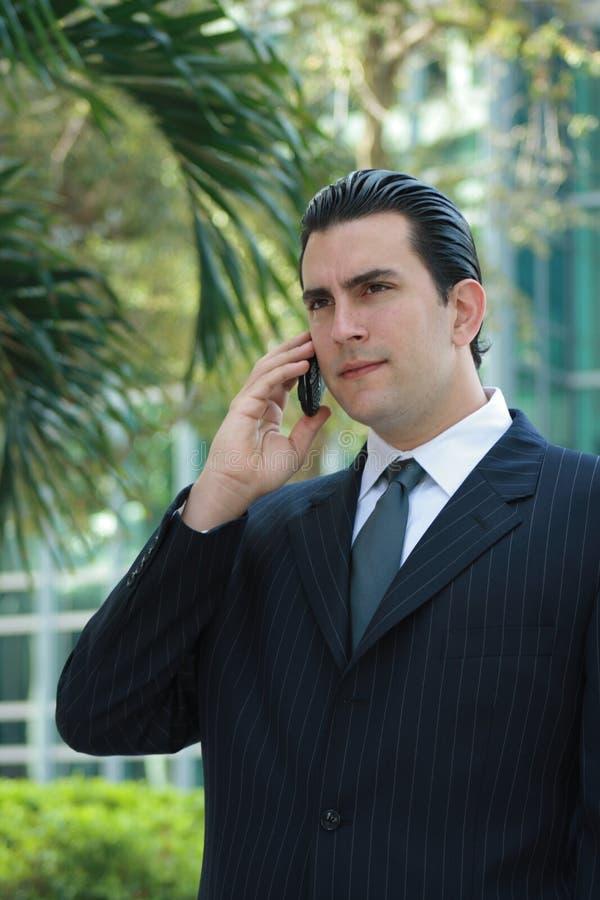 Fala Latin considerável do homem de negócio fotos de stock