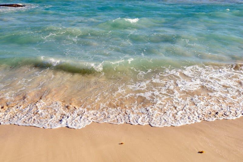 Fala na piaszczystej plaży zdjęcia royalty free