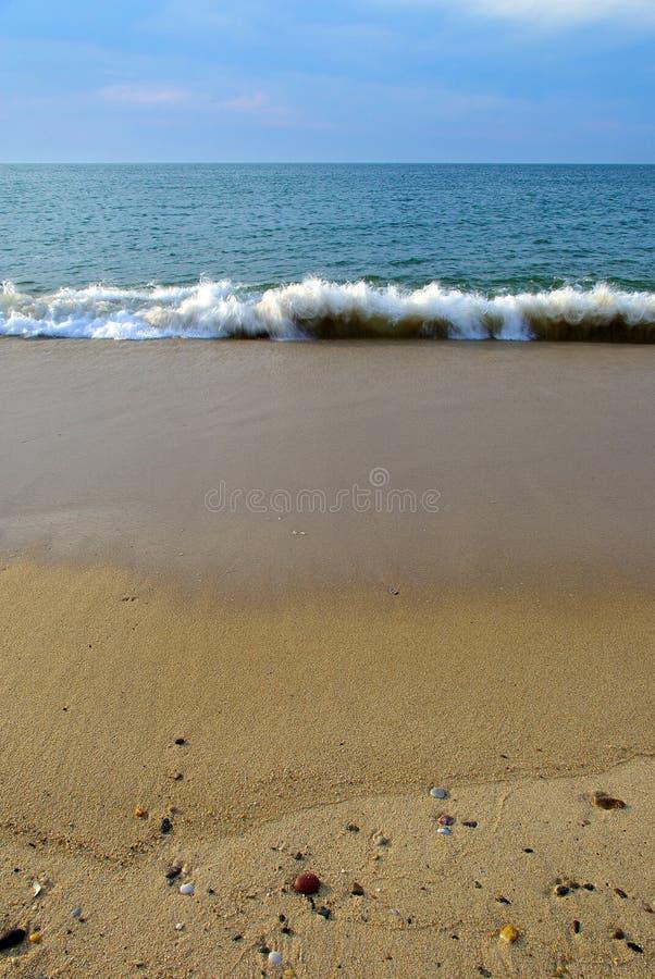 fala na plaży zdjęcie stock