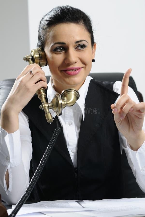 Fala nova da mulher de negócio imagens de stock royalty free
