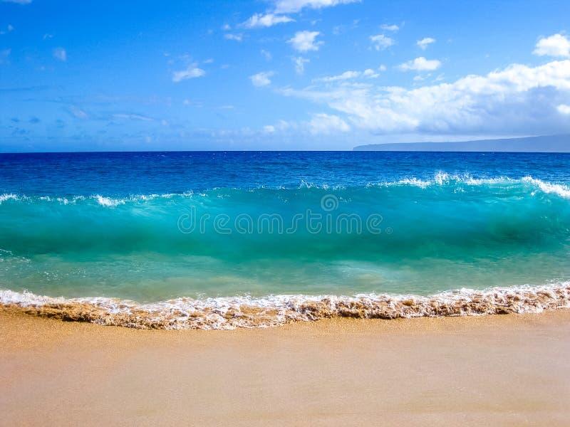 Fala ocean, Maui, Hawaje obrazy stock