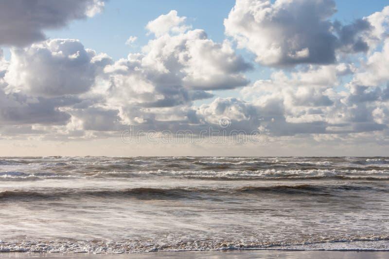 Fala przy Północnym morzem zdjęcia stock