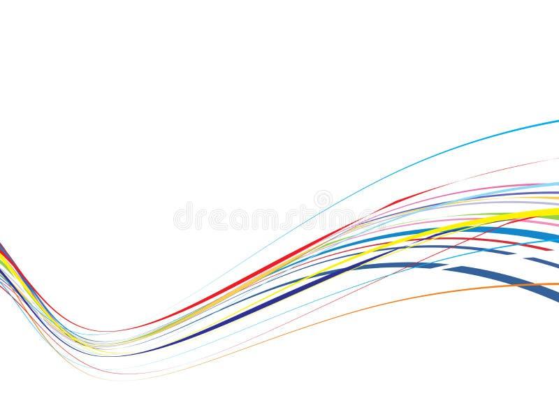 fala tęczową linii tło royalty ilustracja
