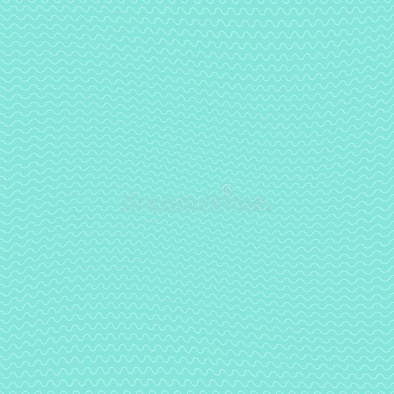 Fala tkaniny bezszwowej powierzchni tapetowy bezszwowy wzór ilustracja wektor