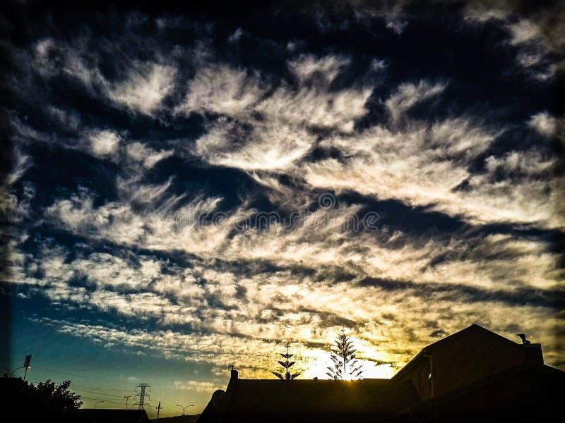 Fala w chmurach obrazy royalty free