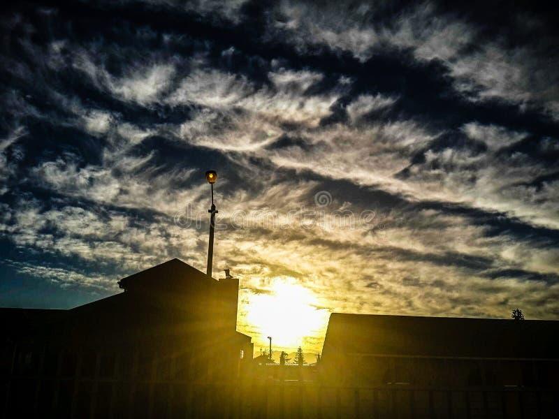 Fala w chmurach obraz stock