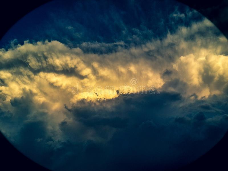 Fala w chmurach fotografia royalty free
