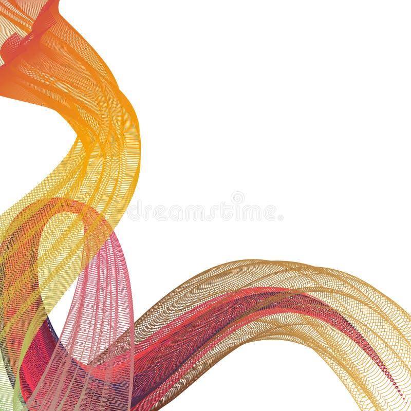 Fala wiele linie Abstrakcjonistyczni faliści lampasy na białym tle odizolowywającym Kreatywnie Kreskowa sztuka 10 eps ilustracyjn ilustracja wektor