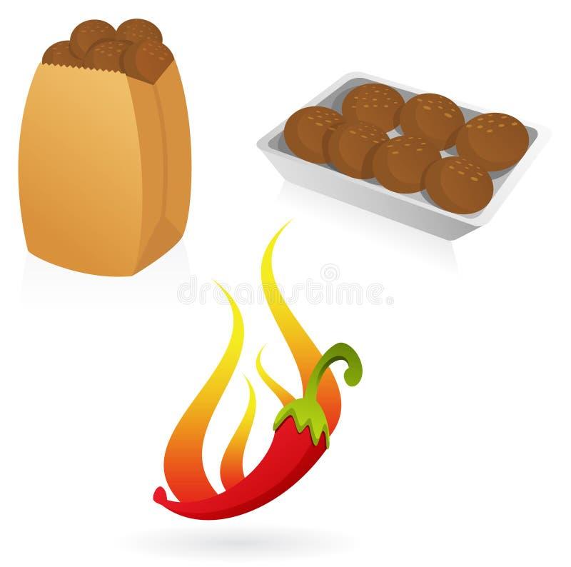 Download Falafel stock vector. Image of tray, dish, illustration - 8014842