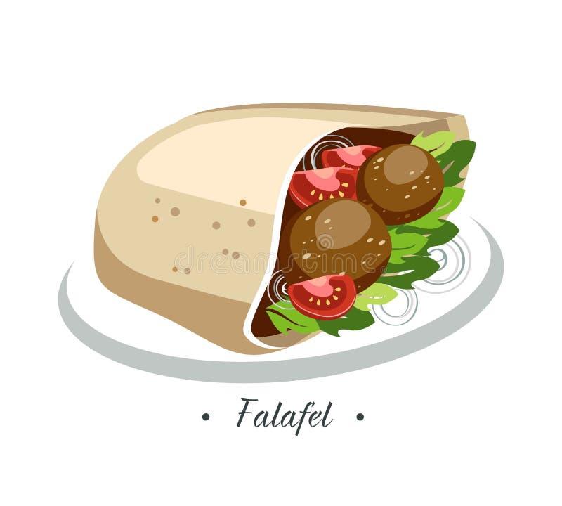 falafel illustration libre de droits