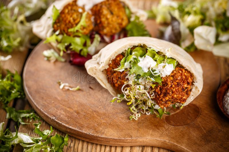 Falafel balls stock photos