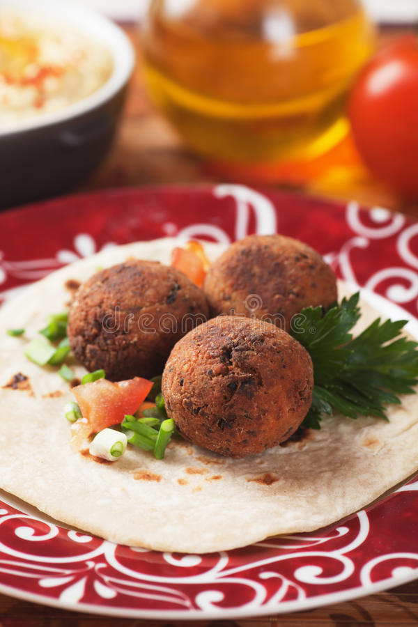Falafel, bliskowschodni klasyczny jedzenie zdjęcie stock