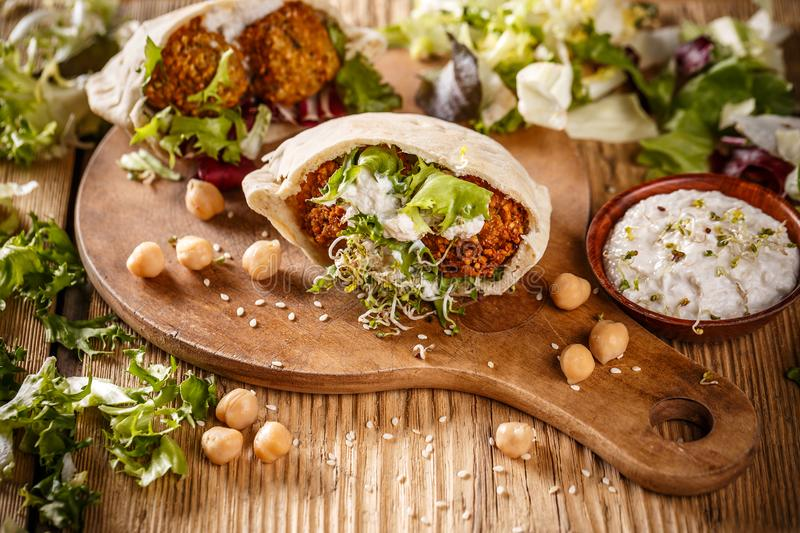 Falafel, chickpea balls royalty free stock photography
