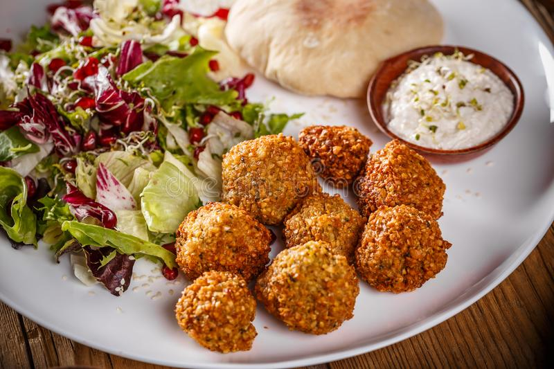 Falafel, deep fried balls royalty free stock image