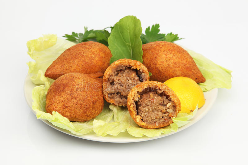 Falafel del kofte del icli de Ramadan Food del turco (albóndiga) foto de archivo