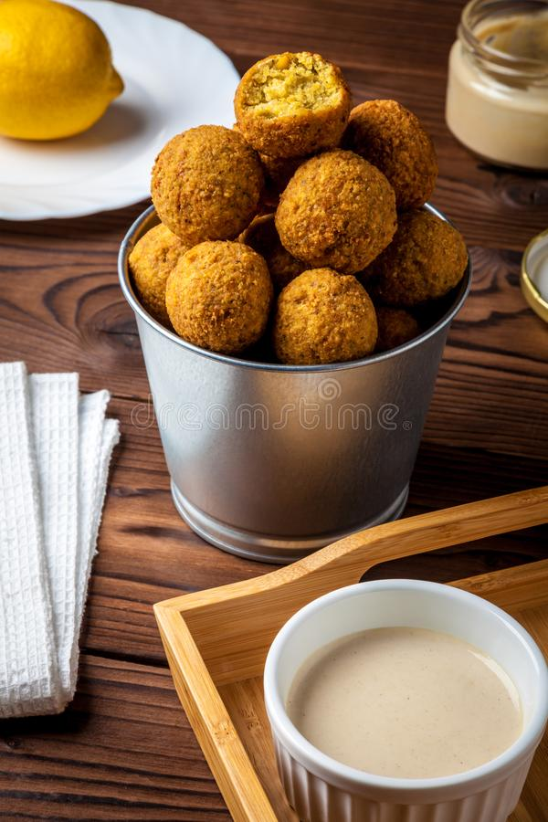 Falafel delicioso e saudável fotografia de stock royalty free