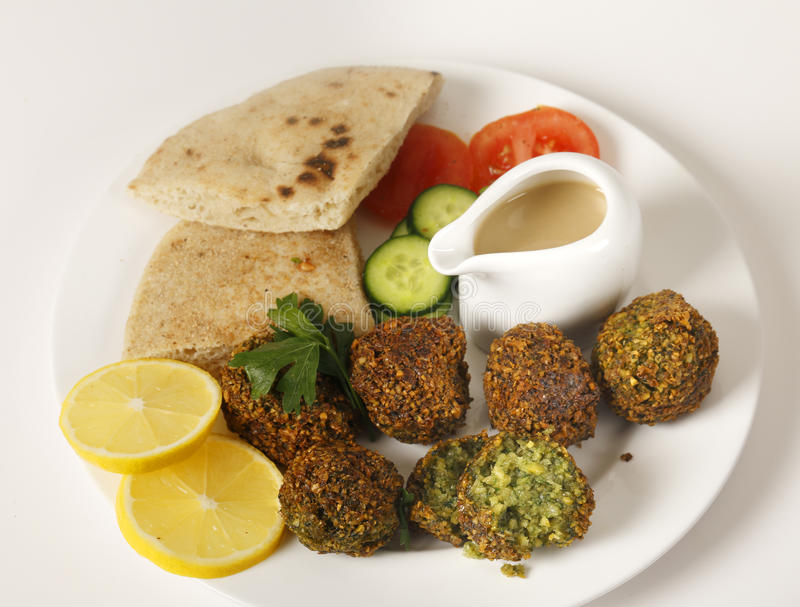 Download Falafel plate stock image. Image of angle, fast, middle - 37106989