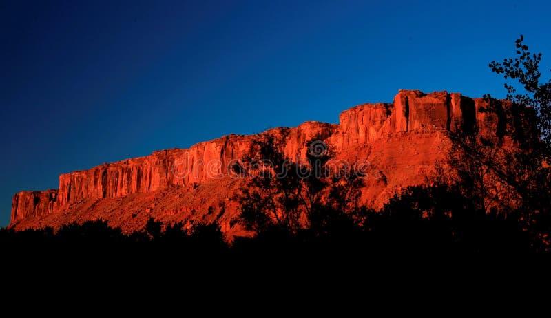Falaise chez Moab photographie stock libre de droits