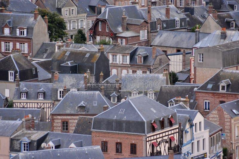 Falaise d'AmontEtretat stad Normandie Frankrike Europa royaltyfria foton