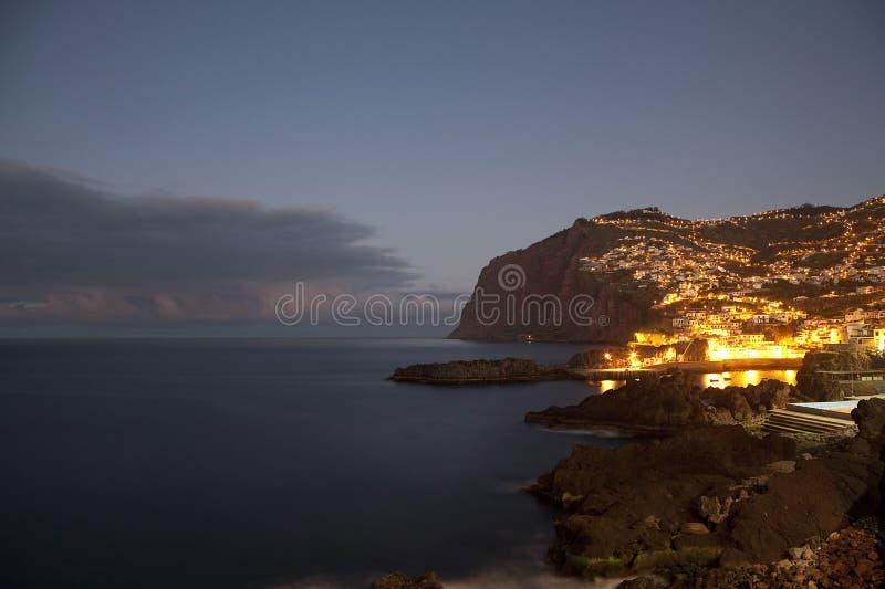 Falaise de Cabo Girao, Camara de Lobos photos stock
