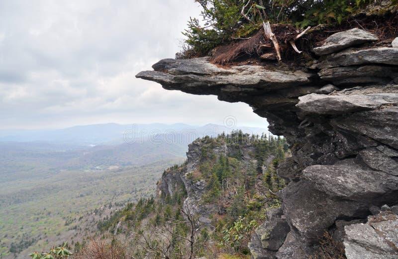 Falaise de flanc de montagne et paysage d'Appalache photo libre de droits