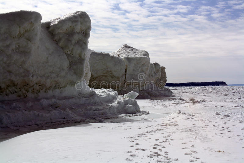 Falaise de glace image stock