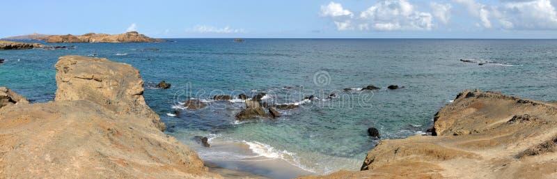 Falaise et plage photo libre de droits