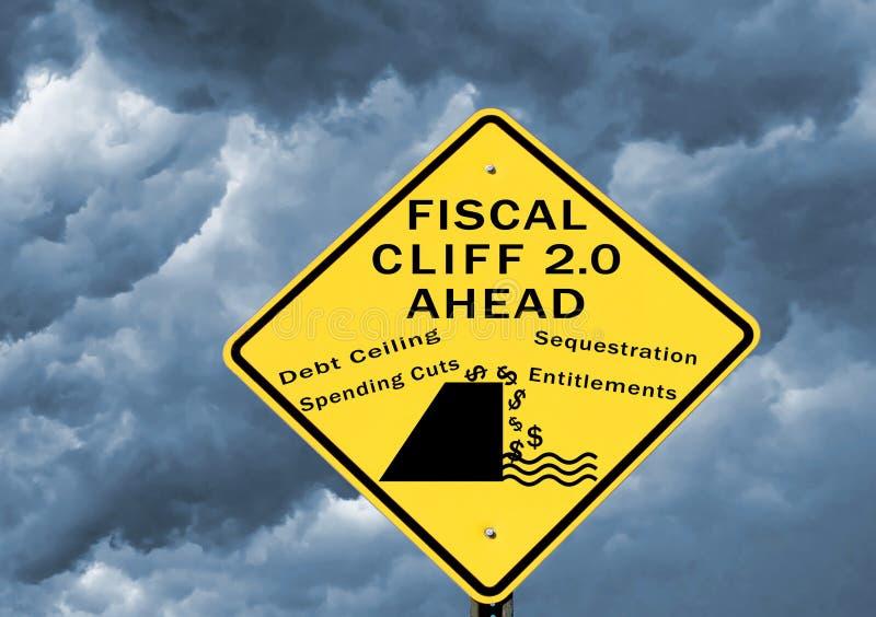 Falaise fiscale 2,0 photos libres de droits