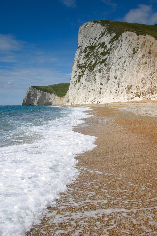 Falaises blanches photographie stock