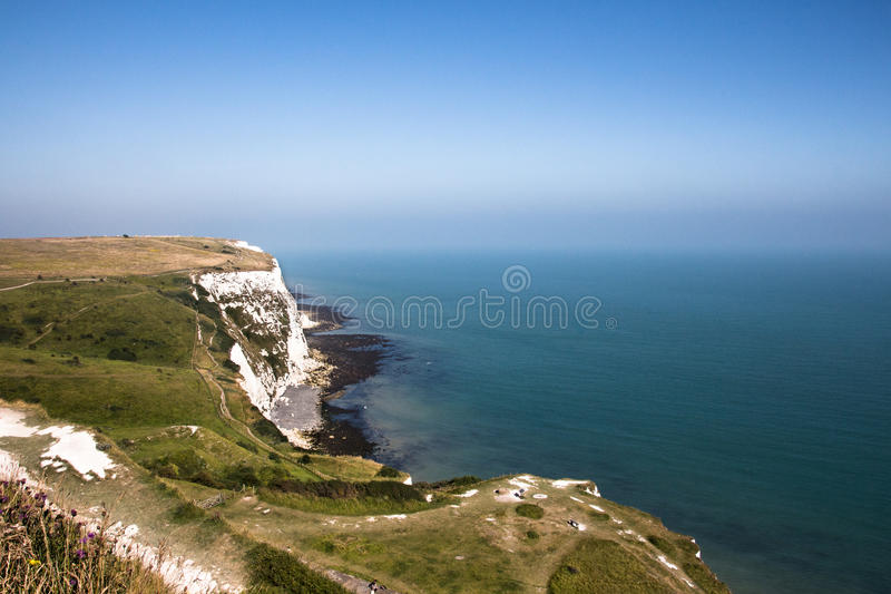 Falaises blanches de Douvres photo stock