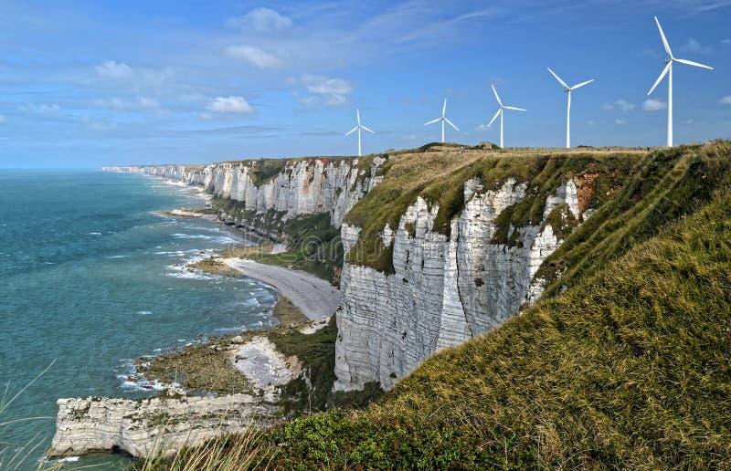 Falaises d'albâtre La Normandie, France images libres de droits