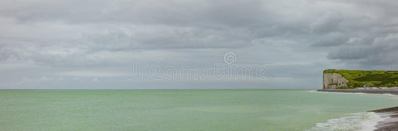 Falaises de côte Normandie d'albâtre photographie stock