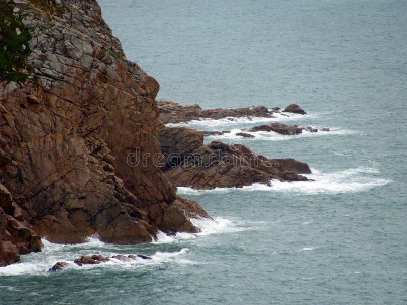 Falaises de cap Roca de Cabo DA Roca dans Sintra Le point le plus occidental d'Europe images libres de droits