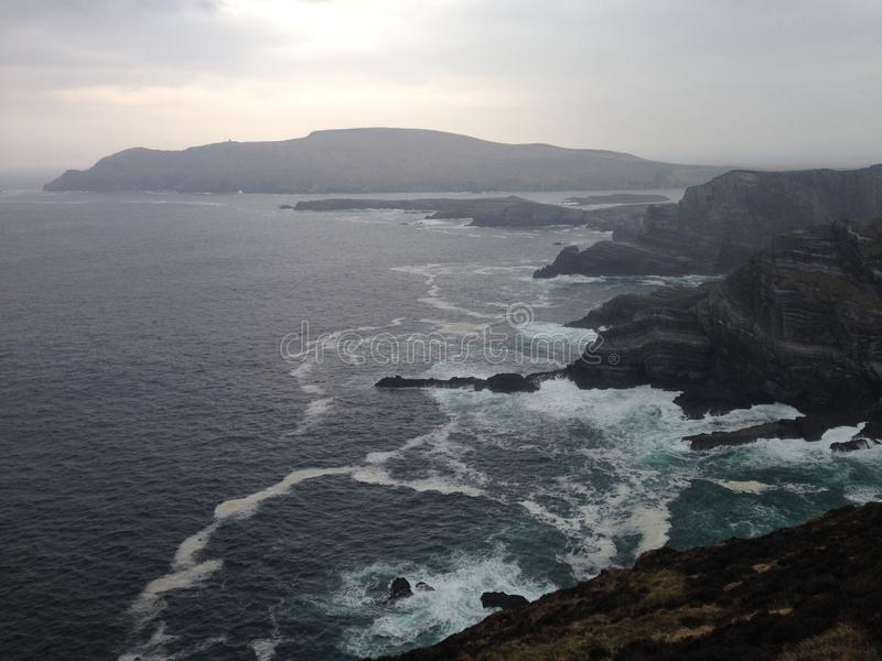 Falaises de Dingle en hiver photographie stock