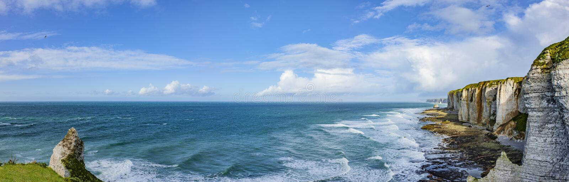Falaises de Normandie image stock
