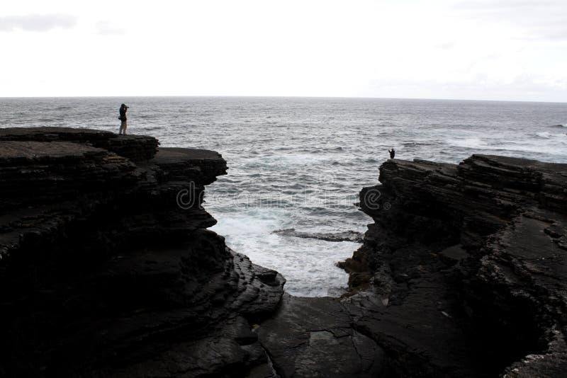 Falaises et océan image stock