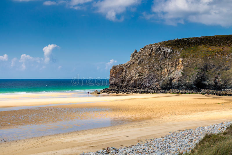Falaises et océan sur la côte de Brittany Bretagne, France photos stock